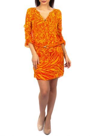 Платье Hale Bob. Цвет: красно-оранжевый