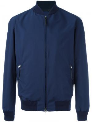 Куртка бомбер на молнии Ermenegildo Zegna. Цвет: синий
