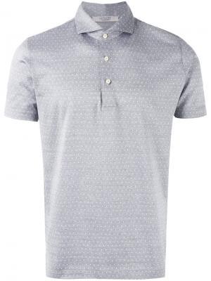 Рубашка-поло с узором из ромбов La Fileria For Daniello D'aniello. Цвет: серый