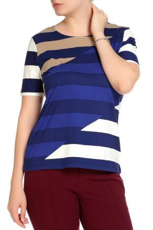 Блуза FIORA BLUE. Цвет: темно-синий