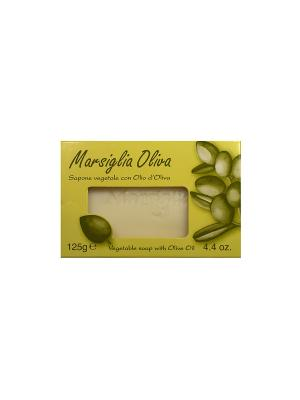 Натуральное косметическое Марсельское мыло с органическим оливковым маслом, 125 г Iteritalia. Цвет: белый