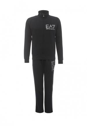Костюм спортивный EA7. Цвет: черный
