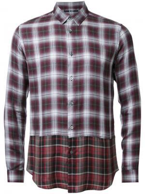 Многослойная рубашка в клетку Hl Heddie Lovu. Цвет: многоцветный