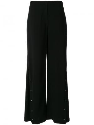 Широкие брюки с заклепками Esteban Cortazar. Цвет: чёрный