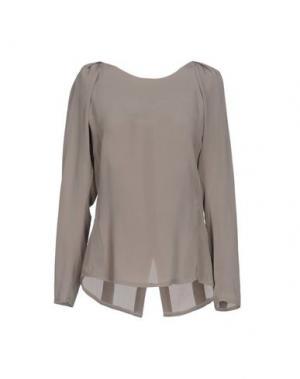 Блузка ELLA LUNA. Цвет: серый