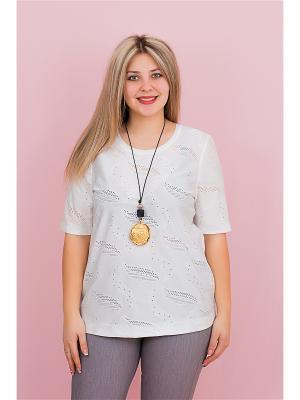 Блуза BALSAKO. Цвет: белый