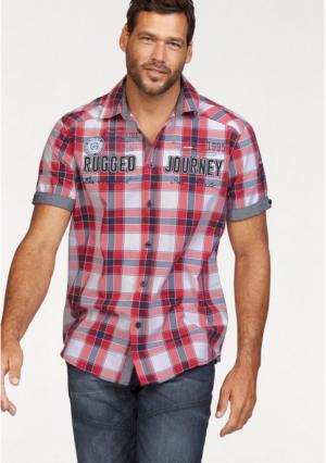 Рубашка MANS WORLD MAN'S. Цвет: красный/синий/белый