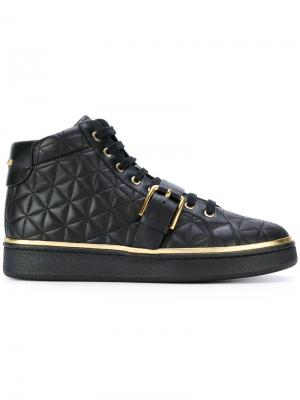 Стеганые кроссовки Active Balmain. Цвет: чёрный