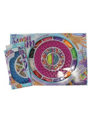 Два набора для плетения браслетов из резинок MOON LOOM. Цвет: синий, бирюзовый, голубой, горчичный, зеленый, лазурный, салатовый, светло-желтый, светло-зеленый, светло-оранжевый, сиреневый, фиолетовый, фуксия