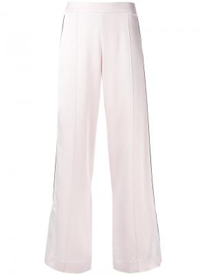 Атласные широкие брюки Mother Of Pearl. Цвет: розовый и фиолетовый