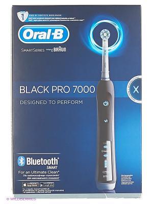 Электрическая зубная щётка ORAL-B 7000 Triumph Black Cross Action с bluetooth подключением ORAL_B. Цвет: черный