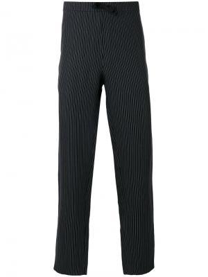 Спортивные брюки в полоску со шнурком Harmony Paris. Цвет: синий