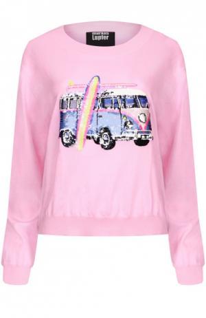 Вязаный свитер Markus Lupfer. Цвет: розовый