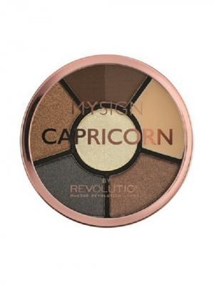 Палетка для макияжа глаз Complete Eye Base Capricorn MakeUp Revolution. Цвет: коричневый, бежевый