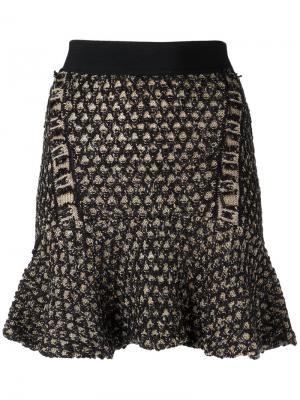 Knit flare skirt Cecilia Prado. Цвет: чёрный