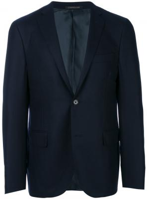 Пиджак с застежкой на одну пуговицу Corneliani. Цвет: синий