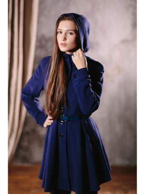 Пальто DUWALI. Цвет: синий