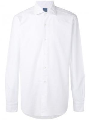 Классическая однотонная рубашка Barba. Цвет: белый