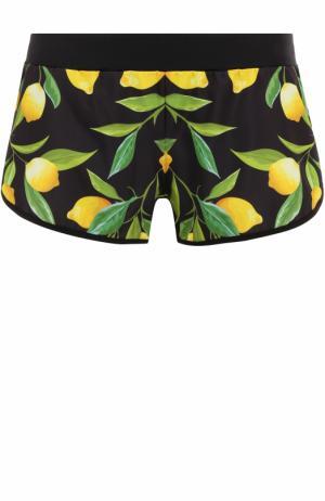 Спортивные мини-шорты с принтом Ultracor. Цвет: разноцветный