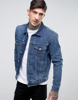 Edwin Выбеленная джинсовая куртка High Road. Цвет: синий