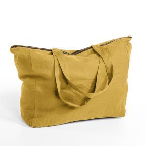 Сумка 100% лен Elina AM.PM.. Цвет: желтый карри,зеленый шалфей