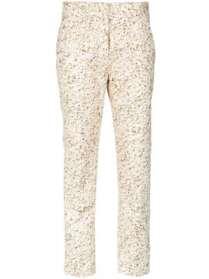 Printed skinny trousers Andrea Marques. Цвет: телесный