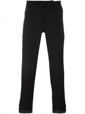 Зауженные брюки с молнией Les Hommes. Цвет: чёрный