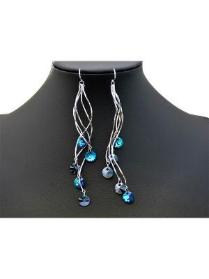Серьги Miss Bijou. Цвет: синий,голубой,серебристый