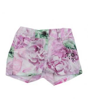Повседневные шорты MICROBE. Цвет: розовый