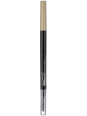 Карандаш для бровей Brow Precise Micro Pencil, + щеточка, оттенок 1, Темный блонд Maybelline New York. Цвет: молочный