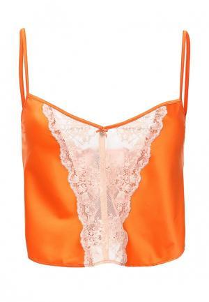 Топ бельевой Emporio Armani. Цвет: оранжевый