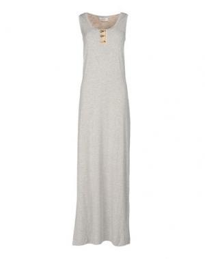 Длинное платье VDP CLUB. Цвет: серый