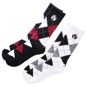 Носки высокие  Striped Black Label. Цвет: черный,белый