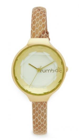 Часы Orchard Gem Exotic с кожаным ремешком цвета слоновой кости RumbaTime