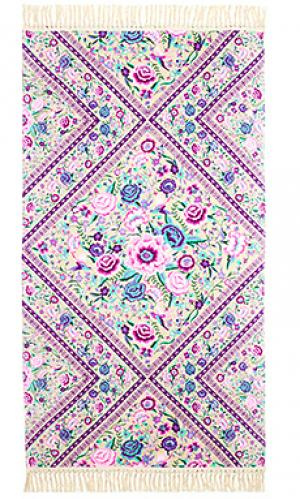 Полотенце babushka Spell & The Gypsy Collective. Цвет: бледно-лиловый