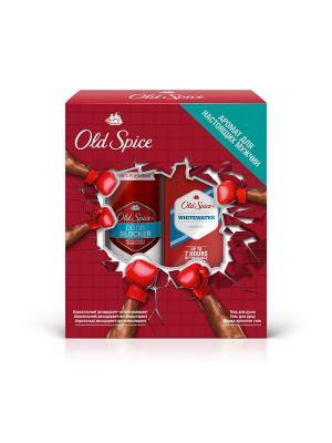 Подарочный набор: аэрозольный антиперспирант Odor Blocker,125мл + гель для душа Whitewater,250мл OLD SPICE. Цвет: красный