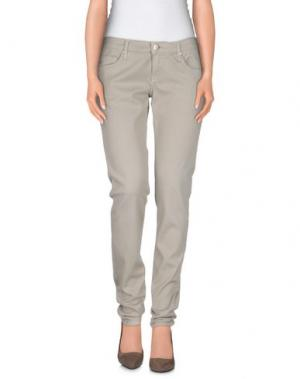 Джинсовые брюки ACHT. Цвет: светло-серый