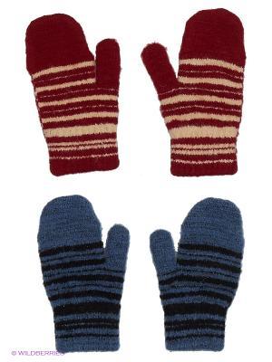 Варежки FOMAS. Цвет: бордовый, бежевый, черный, синий