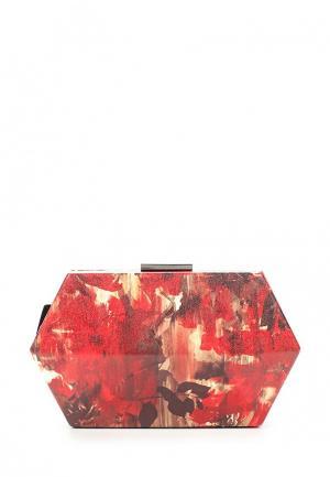 Клатч Olga Berg. Цвет: красный