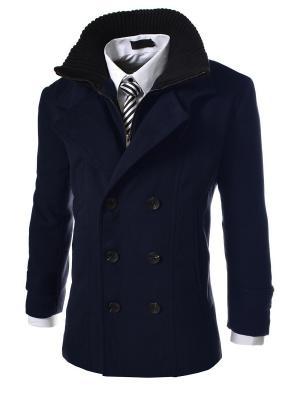 Пальто VipDressCode. Цвет: синий