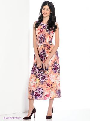 Платье Hammond. Цвет: персиковый, фиолетовый
