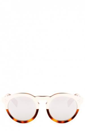 Очки солнцезащитные Illesteva. Цвет: коричневый