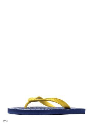 Шлепанцы Effa. Цвет: синий, желтый
