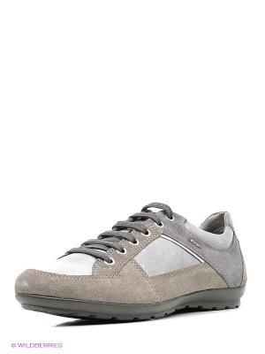 Кроссовки GEOX. Цвет: серый