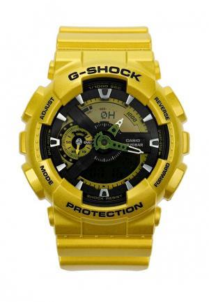 Часы Casio. Цвет: желтый