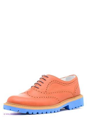 Туфли Gavary. Цвет: рыжий, голубой