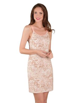 Сорочка послеродовая MamaLine. Цвет: розовый, белый, бежевый