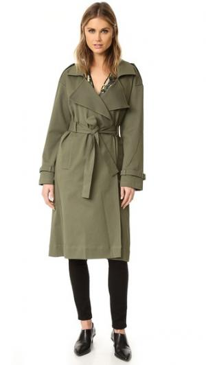 Пальто Кори холщовой ткани. Marissa Webb. Цвет: зеленый милитари