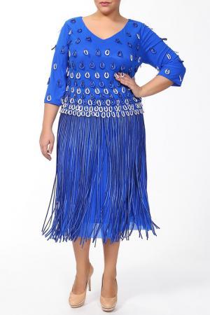 Платье Lia Mara. Цвет: синий