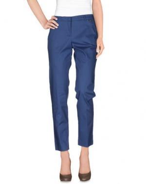 Повседневные брюки CARLA MONTANARINI. Цвет: грифельно-синий